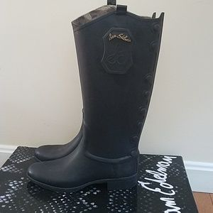 Women's Sam Edelman Ximon black rain boots